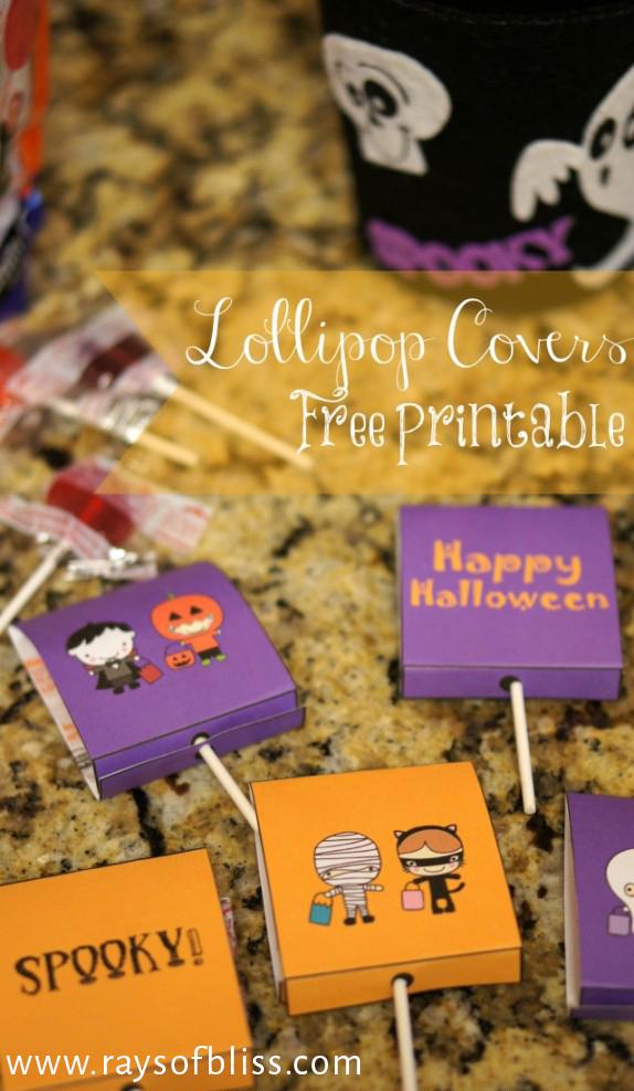 Cute Halloween Lollipop Covers Free Printable