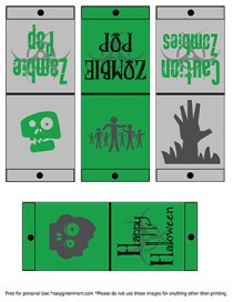 Free Printable Halloween Zombie Lollipop Covers from rays of bliss