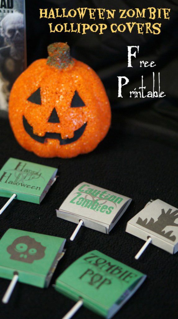 Halloween Zombie Lollipop Covers Free Printable