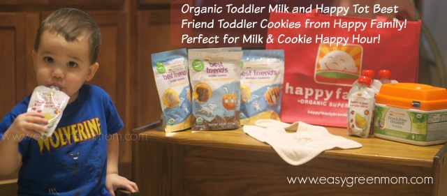 Organic Toddler Milk and Happy Tot Best Friend Toddler Cookies from Happy Family! Perfect for Milk & Cookie Happy Hour!