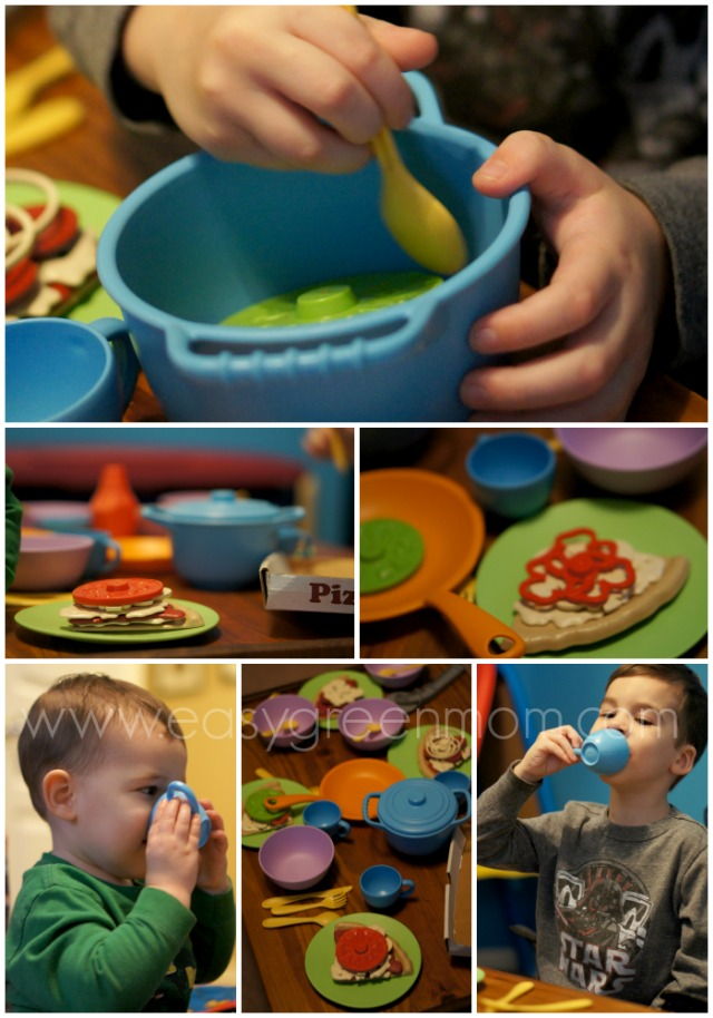 Green Toys Cookware & Dining Set Collage