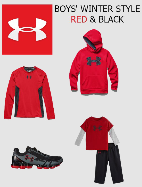 UA RED AND BLACK