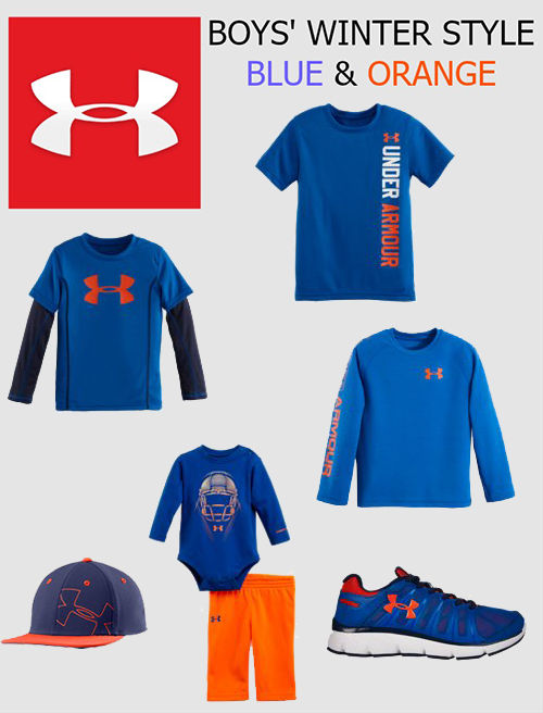 UNDER ARMOUR BLUE AND ORANGE