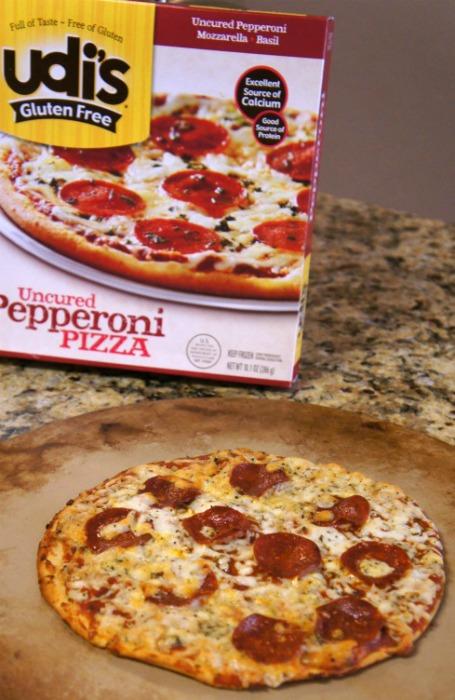Udi's Gluten Free Uncured Pepperoni Pizza!