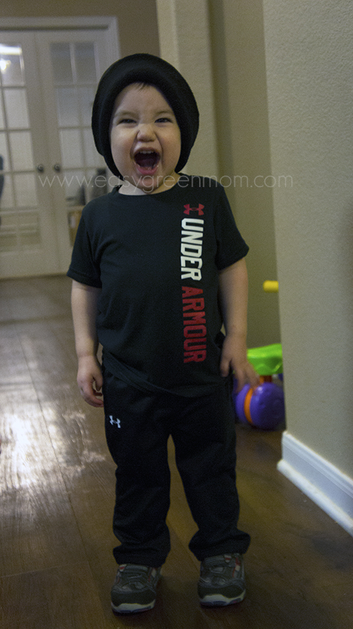 ua red and black gear toddler