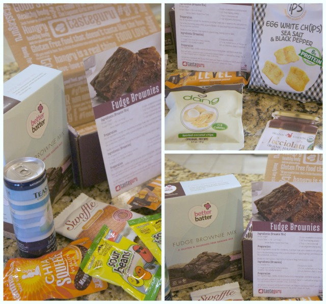 Taste Guru box-of-the-month filled with the best tasting gluten-free-foods!