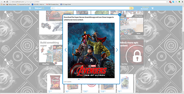 Download the Super Heroes Assemble app and scan these images to unlock even more content.