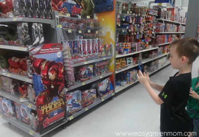 In-store Walmart Super Heros Assemble banner