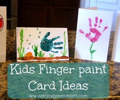Kids Finger Paint Card Ideas