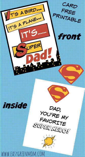 Super Dad Card. Free Printable