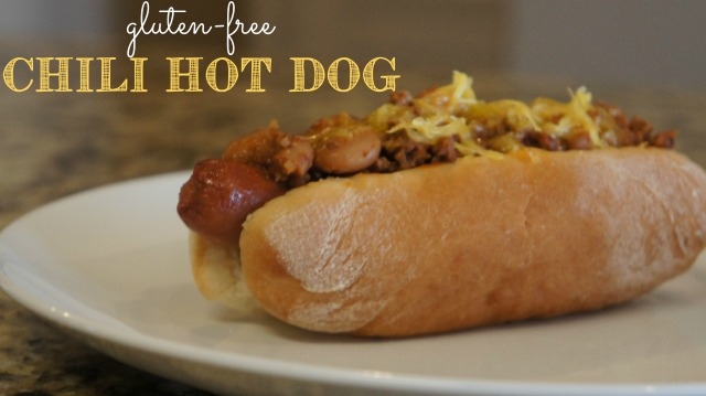 gluten-free chili hot dog. Easy chili recipe.