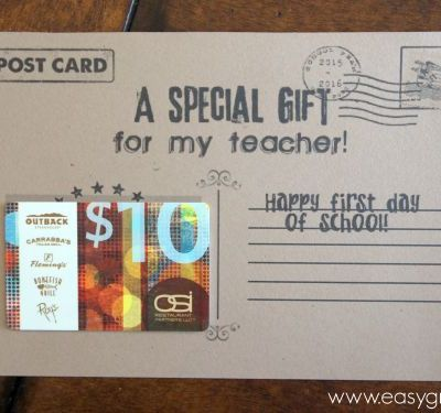 Teacher Gift Card Holder Post Card Free Printable – First Day or Blank Card for Teacher Appreciation, Holidays or Anytime!