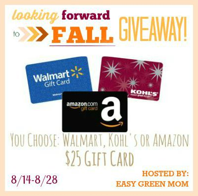 You Choose $25 Gift Card #Forward2Fall Giveaway!