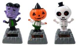 Solar Powered Dancing Pumpkin, Skeleton & Frankenstein