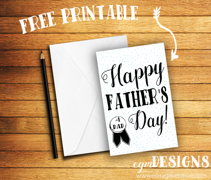 Modern Father's Day Greeting Card Free Printable