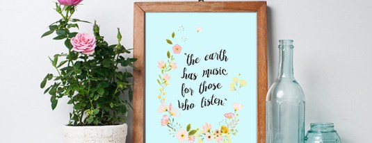 Free Printable – The Earth Has Music for Those Who Listen