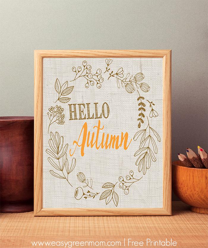 Hello Autumn 8x10 Free Printable