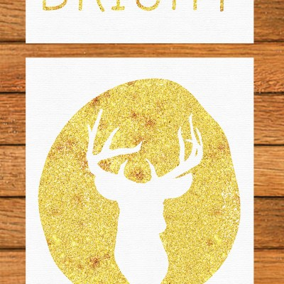 Gold Christmas Art 8×10 Free Printables