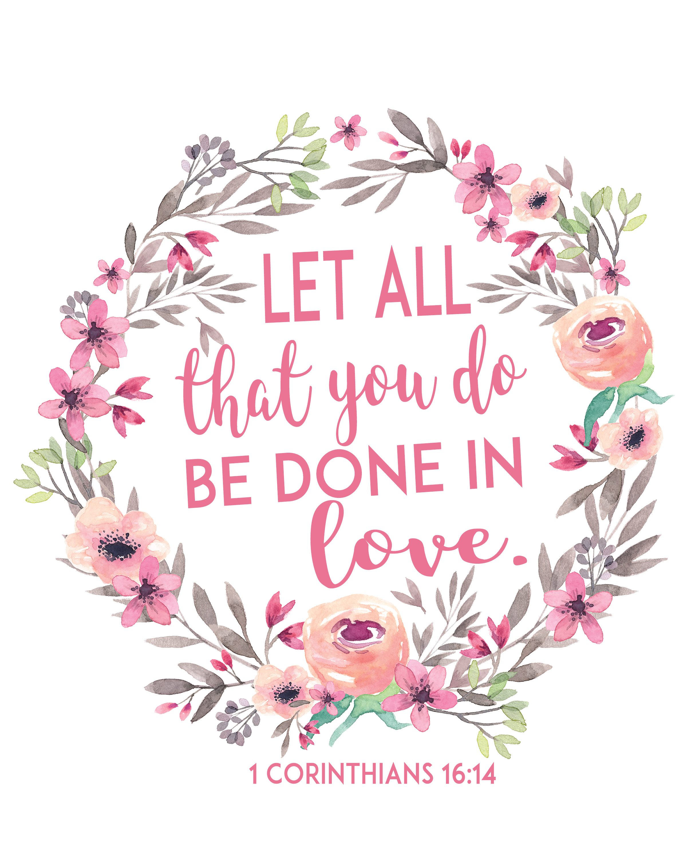 Free Printable Bible Verse Printable Let All That You Do