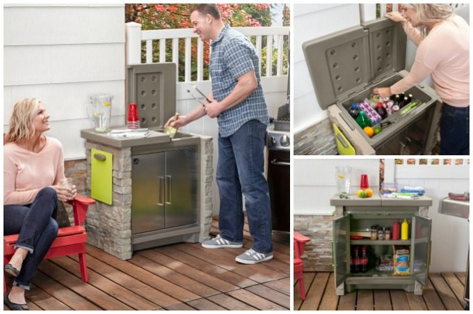 BACKYARD STORAGE SWEEPSTAKE! Enter to win the Step2 Stone Front Patio Collection Cooler & Storage
