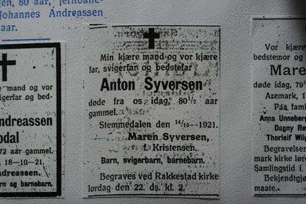 Anton Syversens Obituary