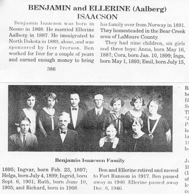 Benjamin Isakson & Family