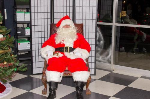 pooped Santa