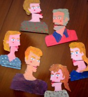 The Gorbenko Family Alive - cardboard cartoon family portrait