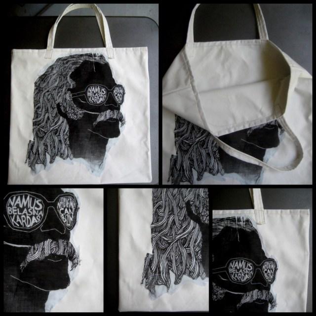 Razblint - Tote Bags - The Cem Karaca Tote Bag - Black on White