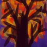 Purple Night Tree