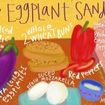 Drawn Recipe: Japanese Eggplant Sandwich