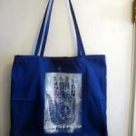 The Blue Hand Tote Bags