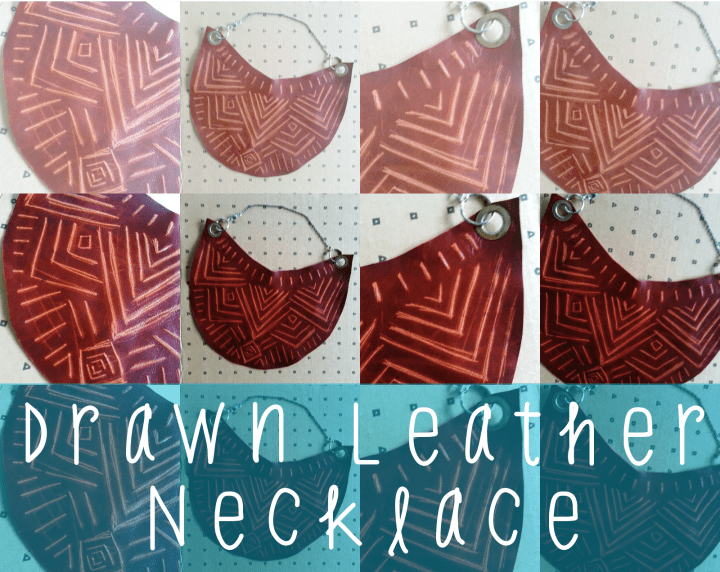 Margaret Hagan - Drawn Leather Necklace collage