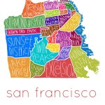 San Francisco Neighborhoods Print