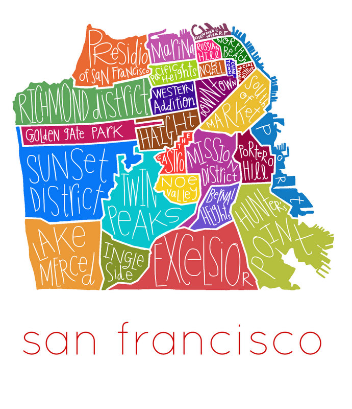 San Francisco Neighborhoods - full color 3