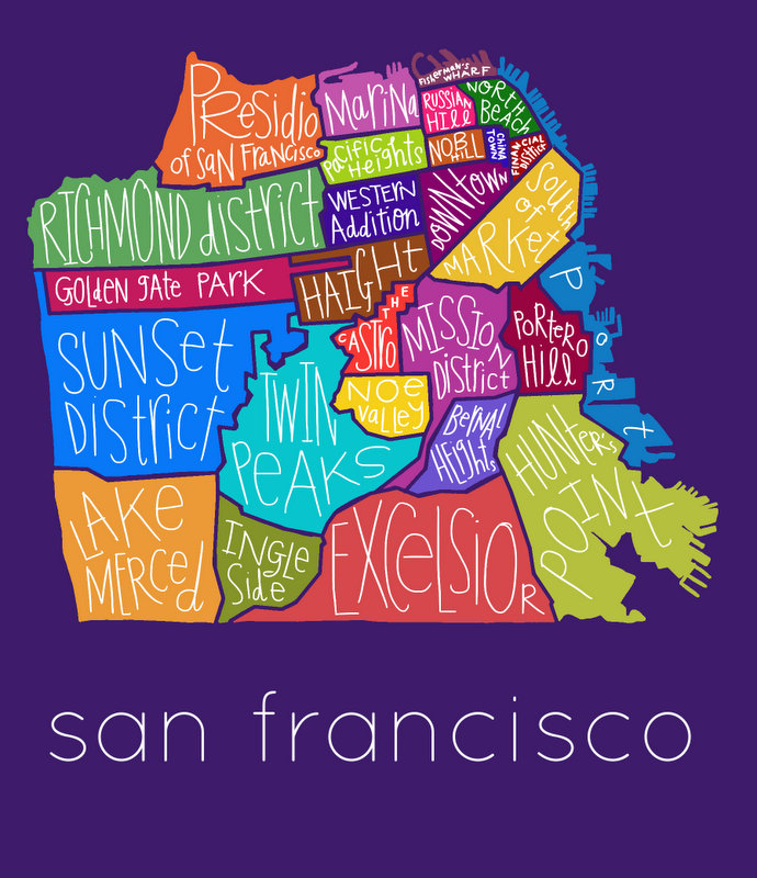 San Francisco Neighborhoods - full color 4