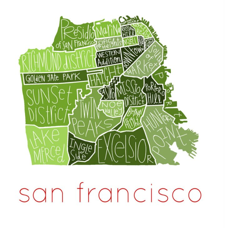 San Francisco Neighborhoods - greens