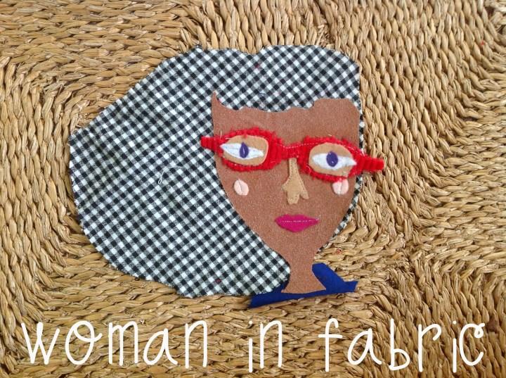 Fabric Portrait - Woman in Fabric - Margaret Hagan - Razblint