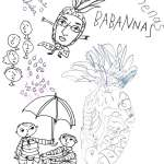 Annenas-Babannas, Grandma Pineapple notebook sketch