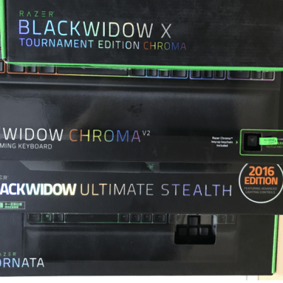 Razer Blackwidow Chroma V2、Razer Blackwidow Ultimate Stealth、Ornata