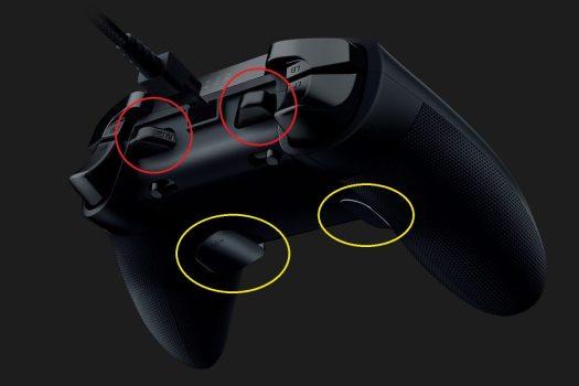 TEはバンパーに2個、トリガーに2個の追加ボタン