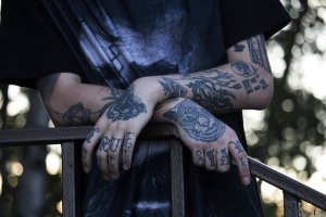 Arms with tattoo