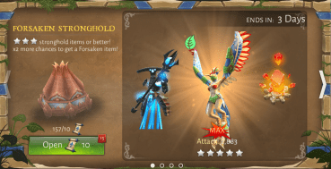 Opening 15 Forsaken Lands Stronghold Chests