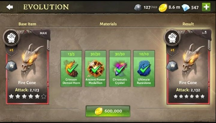 T6ing Skills – Evolution Materials Needed
