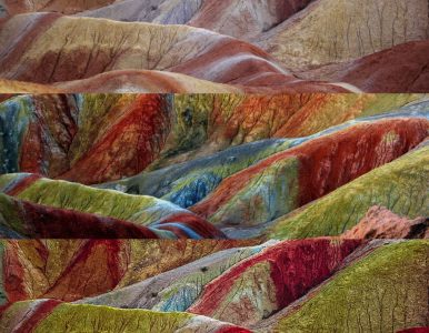 El engaño detrás de las imágenes del Parque Geológico de Zhangye (China)