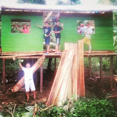 Casa restaurada, ubicada en Andagoya, Chocó.