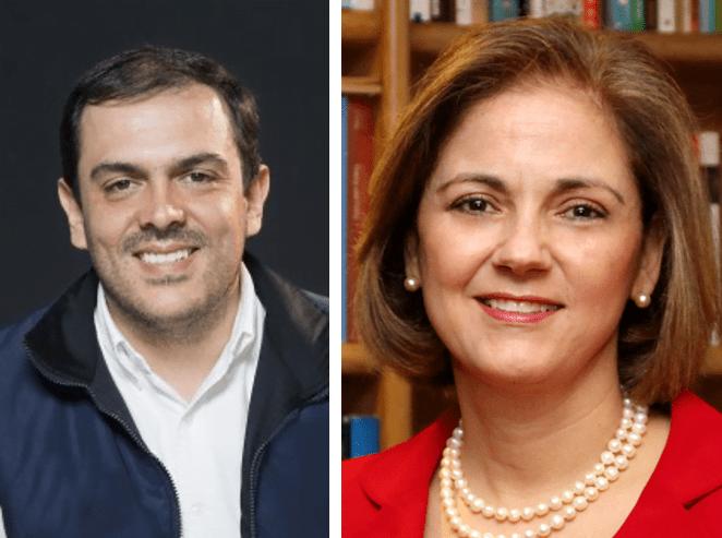 Los senadores Santiago Valencia y María del Rosario Guerra.
