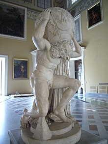 Estatua Romana de Atlas siglo II