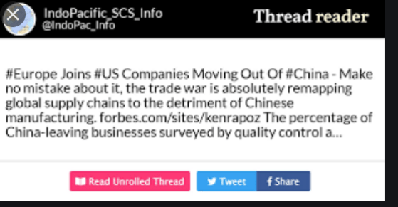 european companies leaving China 1