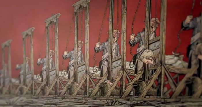 Guillotina en la Revolución Francesa
